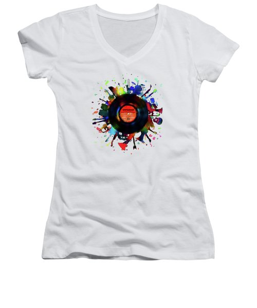 Unplugged Women's V-Neck (Athletic Fit)