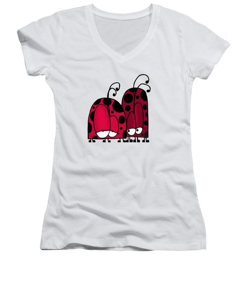 Unrequited Love Women's V-Neck T-Shirt (Junior Cut) by Michelle Brenmark