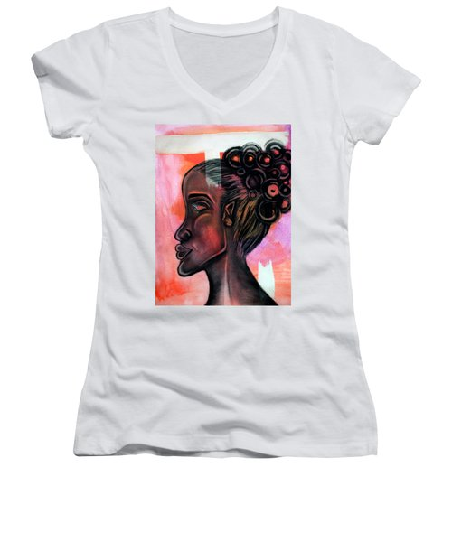 Untitled Lady II Women's V-Neck (Athletic Fit)
