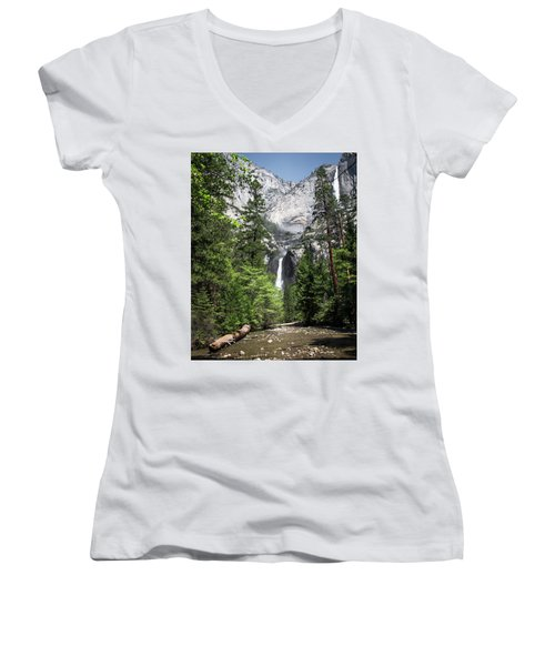 Upper Lower Women's V-Neck T-Shirt (Junior Cut) by Ryan Weddle
