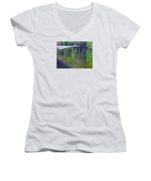 Upriver View Women's V-Neck T-Shirt (Junior Cut)