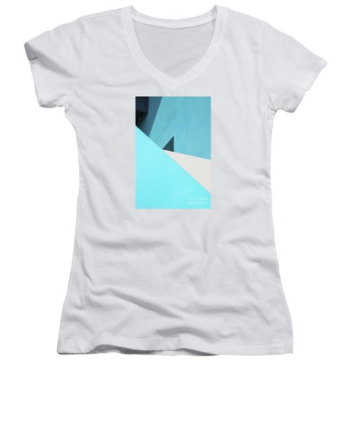 Urban Abstract 3 Women's V-Neck T-Shirt (Junior Cut) by Elena Nosyreva