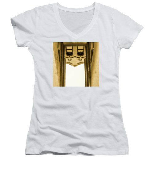Urban Portals - Architectural Abstracts Women's V-Neck (Athletic Fit)