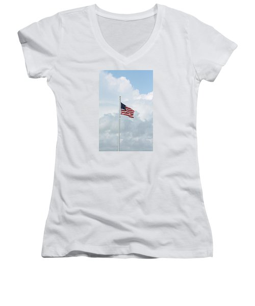 USA Women's V-Neck (Athletic Fit)