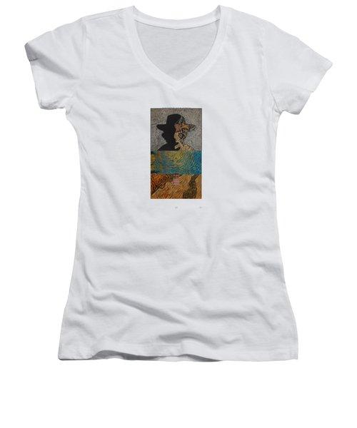 V Ogh 11 Women's V-Neck T-Shirt (Junior Cut) by Stan  Magnan