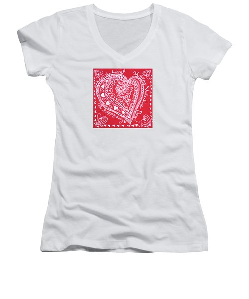 Valentine Heart Women's V-Neck