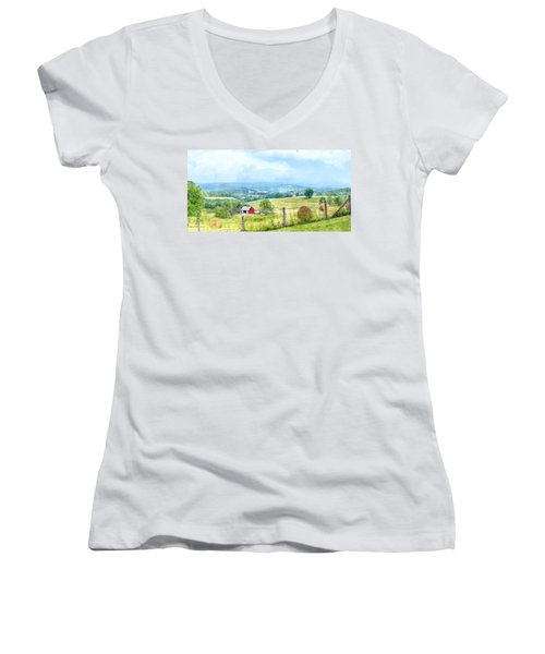 Valley Farm Women's V-Neck (Athletic Fit)