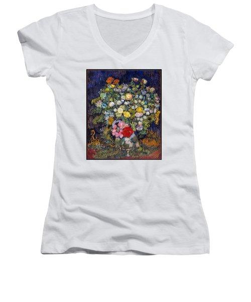 van Gogh's Vase          Women's V-Neck