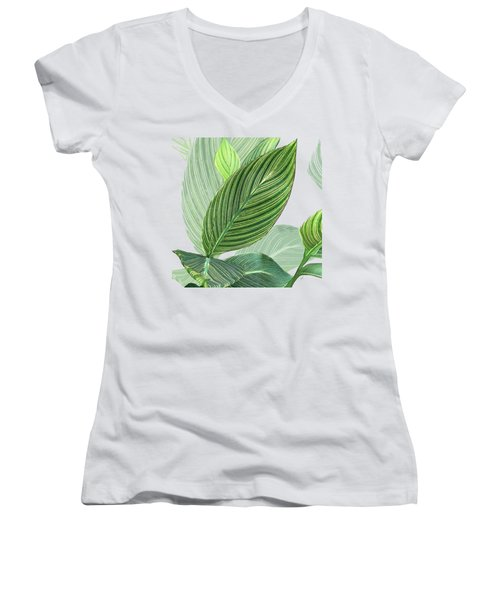 Variegated Women's V-Neck