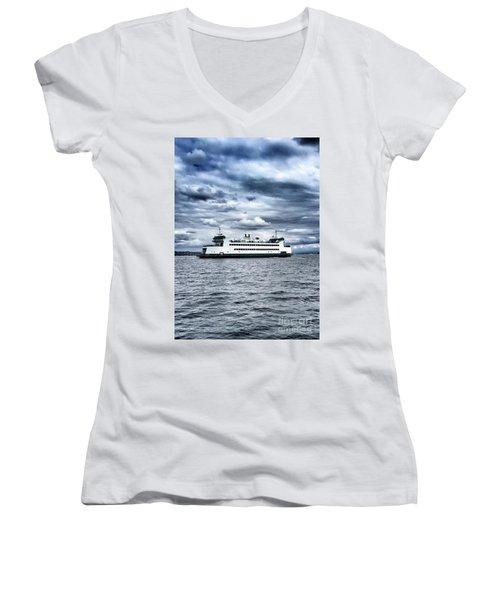 Vashon Island Ferry Women's V-Neck