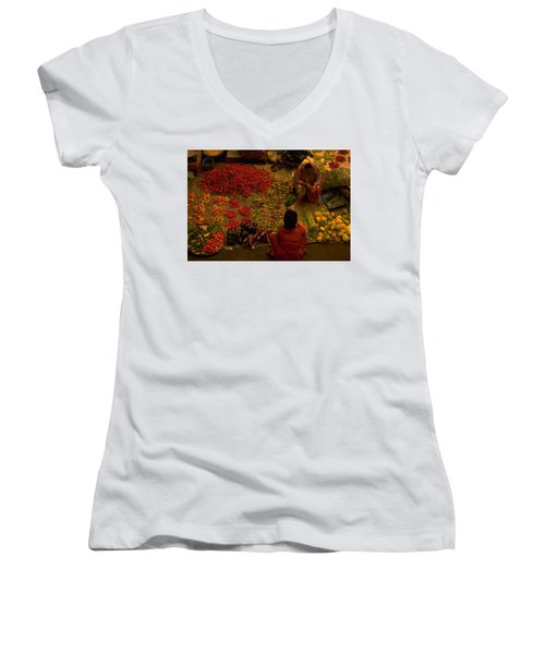 Vegetable Market In Malaysia Women's V-Neck