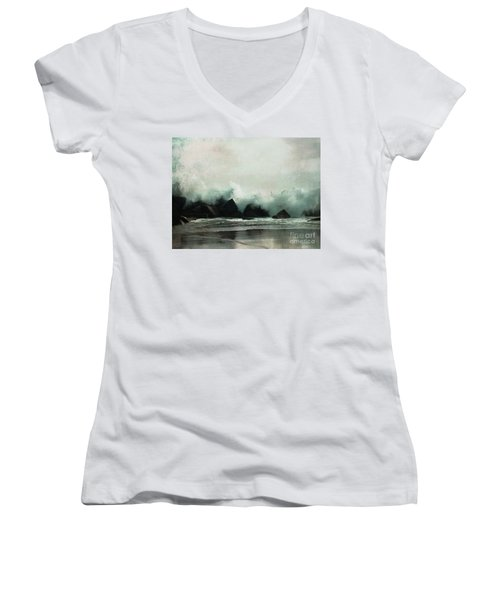 Venice Beach, California Women's V-Neck (Athletic Fit)