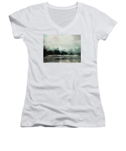 Venice Beach, California Women's V-Neck T-Shirt
