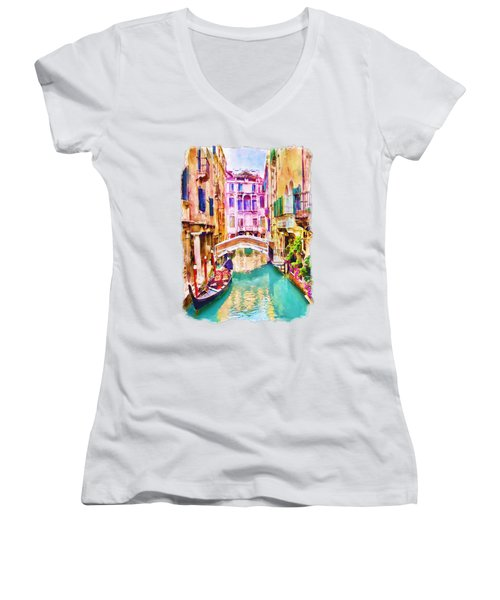 Venice Canal 2 Women's V-Neck (Athletic Fit)