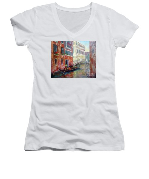 Venice Gondola Ride Women's V-Neck