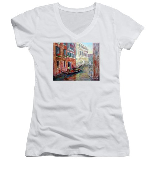 Venice Gondola Ride Women's V-Neck