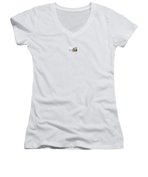 Venice Women's V-Neck T-Shirt (Junior Cut) by Maciek Froncisz