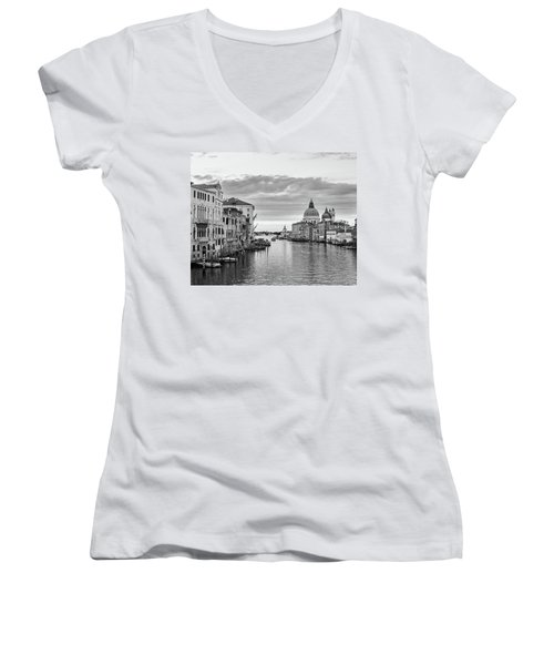 Venice Morning Women's V-Neck T-Shirt (Junior Cut) by Richard Goodrich