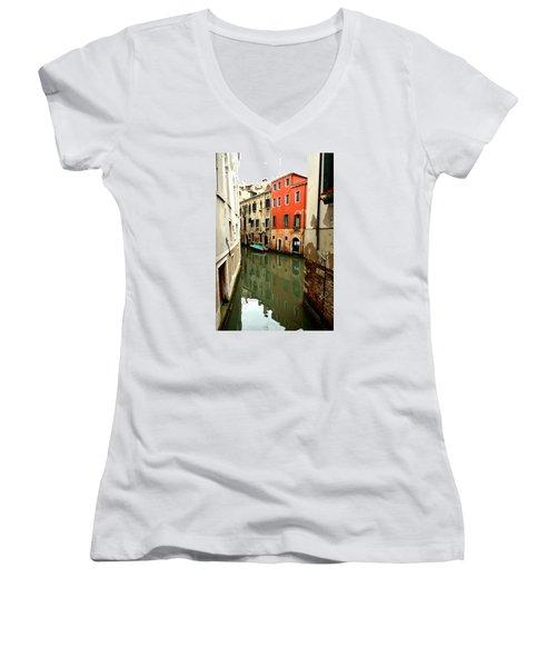 Venice Street Scene 3 Women's V-Neck T-Shirt
