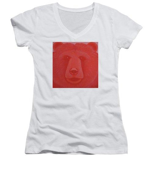 Vermillion Bear Women's V-Neck T-Shirt