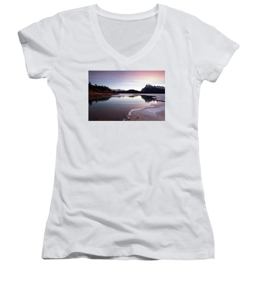 Vermillion Ice Break Women's V-Neck T-Shirt