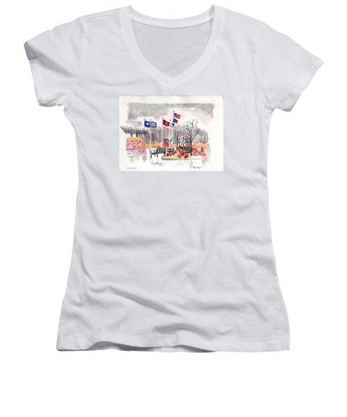 Veteran's Memorial Park Women's V-Neck T-Shirt