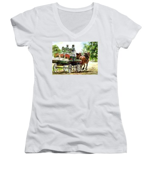 Victoria Bitter, Working Clydesdales. Women's V-Neck