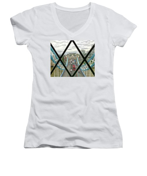 View From A Bridge Women's V-Neck (Athletic Fit)