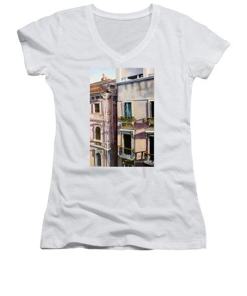 View From A Venetian Window Women's V-Neck