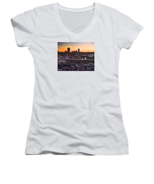 View From The Monument 015 Women's V-Neck T-Shirt