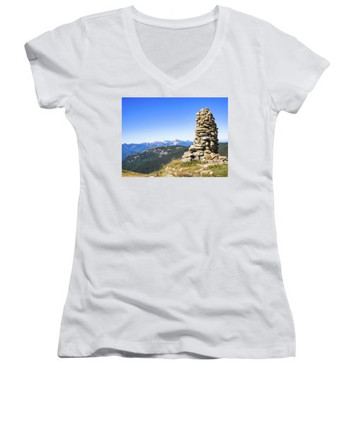 View Of The Apuan Alps Women's V-Neck