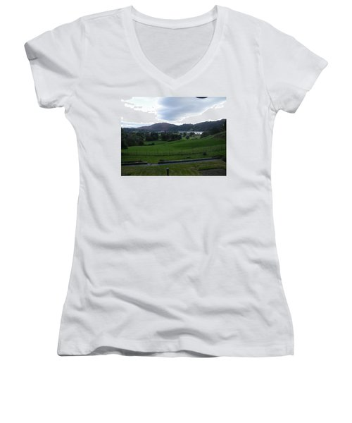 View Of The Lakes Women's V-Neck (Athletic Fit)
