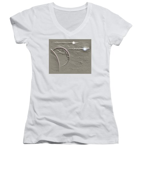 View To A Gray Universe Women's V-Neck