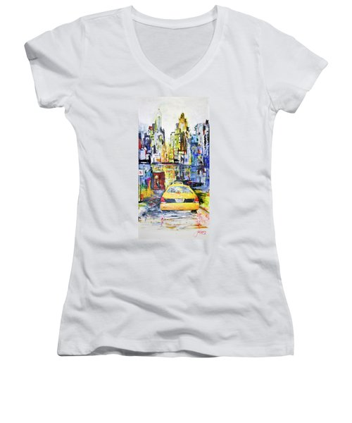 View To Manhattan Women's V-Neck