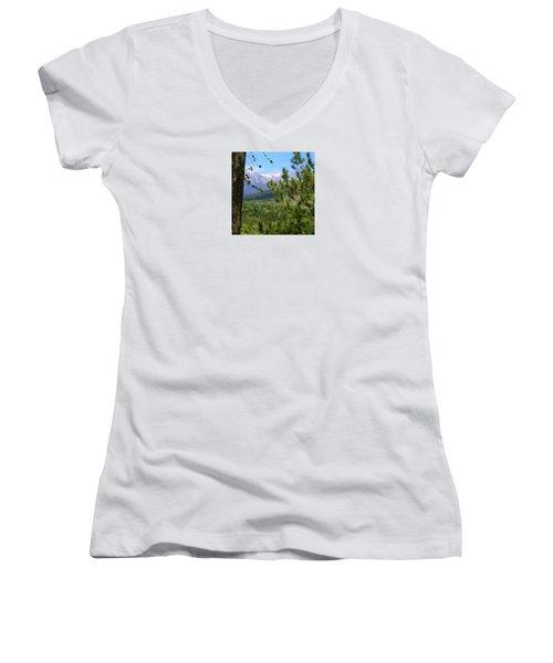 Views Of Katahdin Women's V-Neck T-Shirt