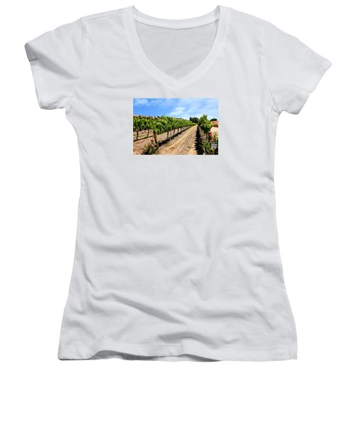 Vines And Roses Women's V-Neck T-Shirt