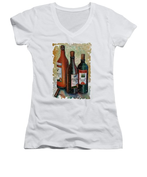 Vintage Georgian Wine Fresco Women's V-Neck T-Shirt