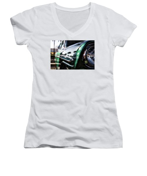 Vintage Green Women's V-Neck T-Shirt