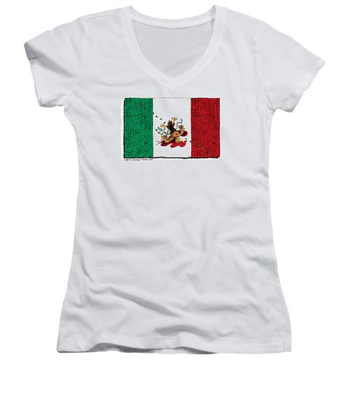 Violence In Mexico Women's V-Neck