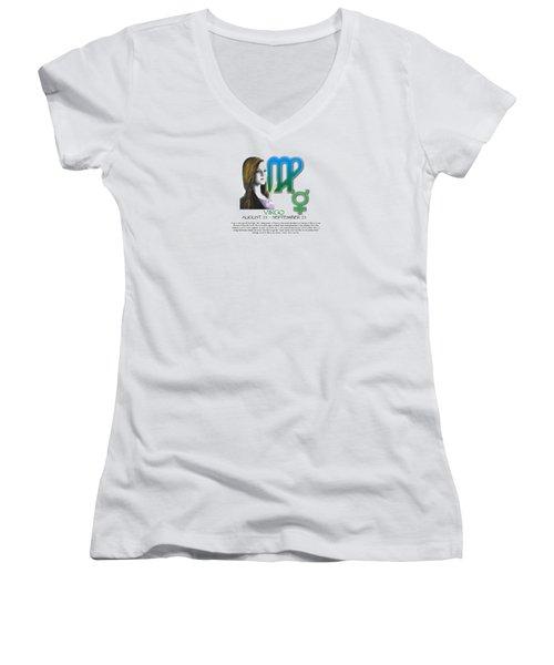 Virgo Sun Sign Women's V-Neck T-Shirt