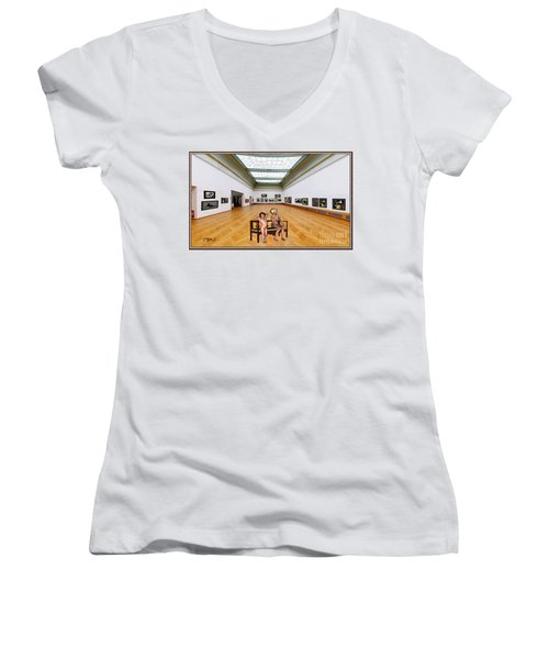Virtual Exhibition - 32 Women's V-Neck (Athletic Fit)