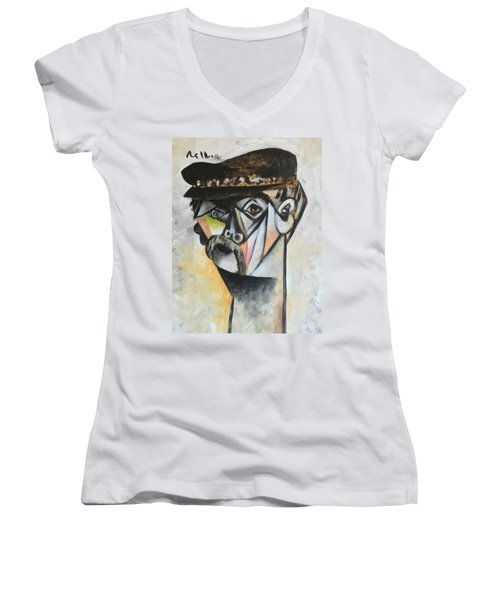 Vitae The Old Man  Women's V-Neck T-Shirt (Junior Cut)