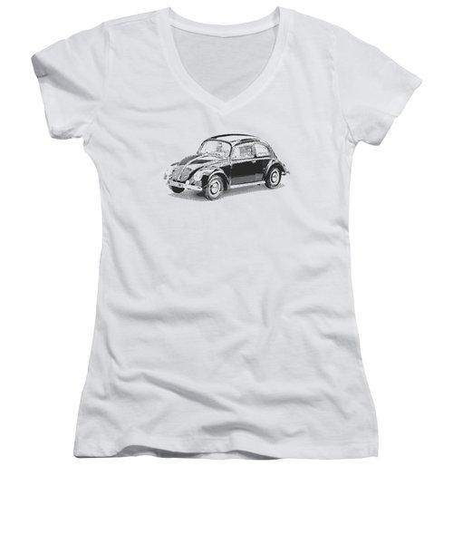 Volkswagen 1949 - Parallel Hatching Women's V-Neck T-Shirt