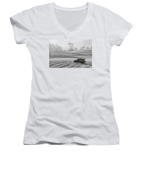 Waiting For A Load Women's V-Neck T-Shirt (Junior Cut) by Nicki McManus
