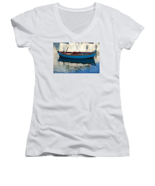 Waiting To Go Fishing Women's V-Neck (Athletic Fit)