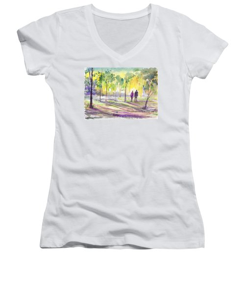 Walk Through The Woods Women's V-Neck