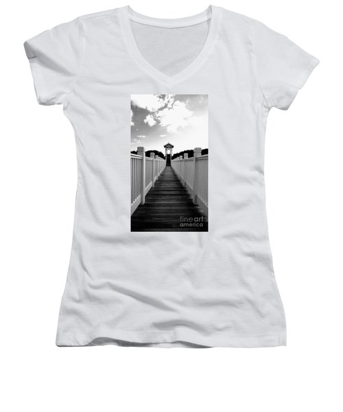 Walk To The Beach Women's V-Neck (Athletic Fit)