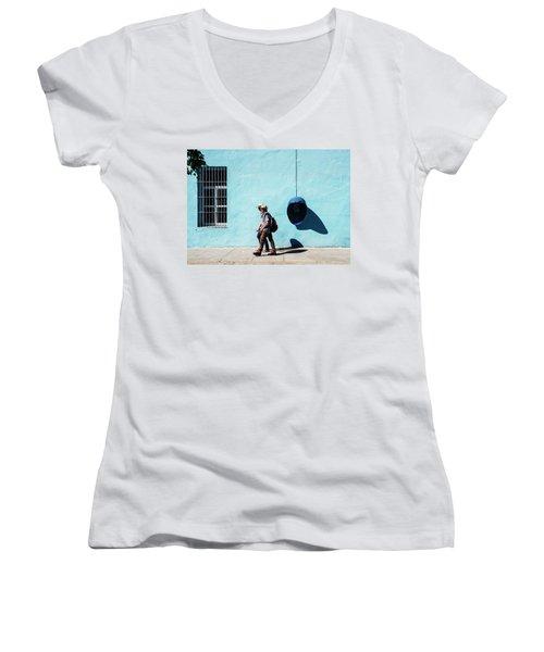 Walking Hats Women's V-Neck T-Shirt