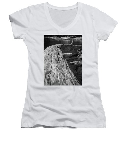 Walking On A Log Women's V-Neck