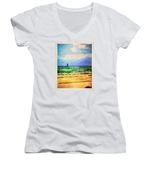 Beach Time Women's V-Neck T-Shirt (Junior Cut)